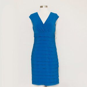 American Living Blue Tiered Pleated Dress 6